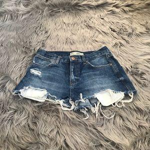 Distressed Topshop  shorts